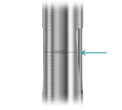 MAX mark between the eGo AIO D16 tank windows