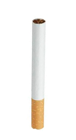 model that is as similar as possible in size and shape to a regular cigarette