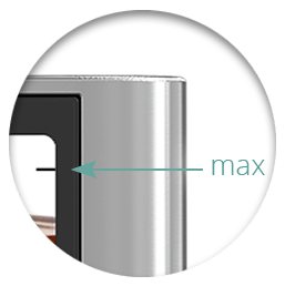 maximum fill level in Cuboid Mini Clearomizer