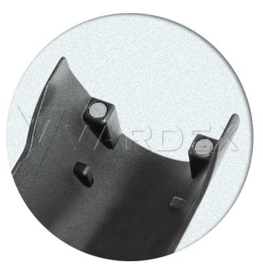 Крышка батарейного отсека Reuleaux удерживается с помощью мощных магнитов