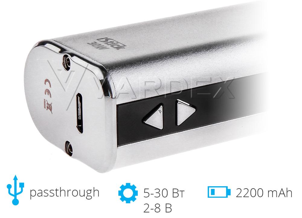 passthrough – возможность использования во время зарядки iStick 30W Simple