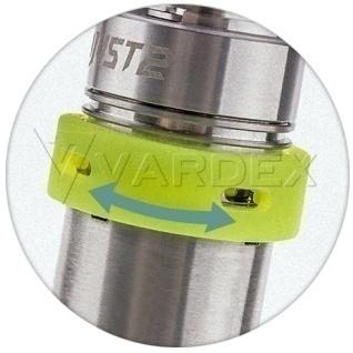 Регулировка подачи воздуха iJust 2 производится с помощью специального силиконового кольца, которое производитель заботливо включил в стандартный комплект поставки