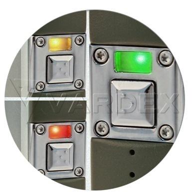 Индикатор Innokin iTaste VTR работает по принципу трехцветного светофора — состояние батареи варьируется от «зеленого» до «желтого» и «красного»